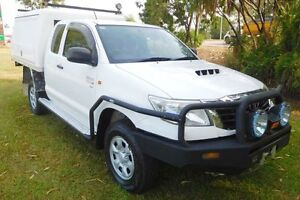 2012 Toyota Hilux KUN26R MY12 SR Xtra Cab White 5 Speed Manual Utility Hidden Valley Darwin City Preview