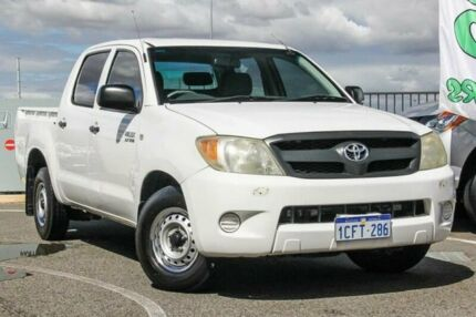 2006 Toyota Hilux TGN16R 06 Upgrade Workmate White 5 Speed Manual Dual Cab Pick-up Wangara Wanneroo Area Preview