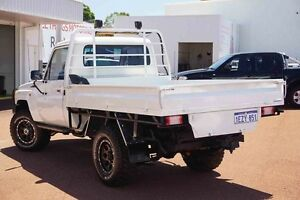 2007 Toyota Landcruiser VDJ79R Workmate White 5 Speed Manual Cab Chassis Westminster Stirling Area Preview