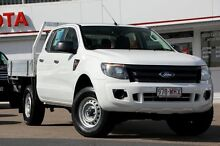 2012 Ford Ranger PX XL Double Cab White 6 Speed Sports Automatic Cab Chassis Woolloongabba Brisbane South West Preview
