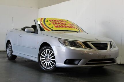 2007 Saab 9-3 MY08 Linear 2.0T Silver 5 Speed Auto Sensonic Convertible Underwood Logan Area Preview