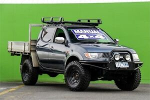 2007 Mitsubishi Triton ML MY07 GLX-R Double Cab Grey 5 Speed Manual Utility Ringwood East Maroondah Area Preview