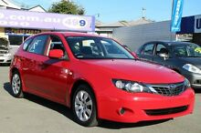 2008 Subaru Impreza G3 MY09 R AWD Red 4 Speed Sports Automatic Hatchback Greenslopes Brisbane South West Preview