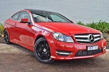 2015 Mercedes-Benz C180  Red Sports Automatic Coupe Burwood Whitehorse Area Preview