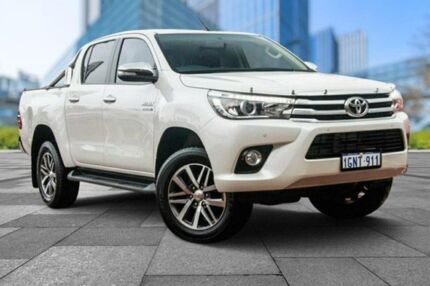 2016 Toyota Hilux GUN126R SR5 Double Cab White 6 Speed Sports Automatic Utility Myaree Melville Area Preview