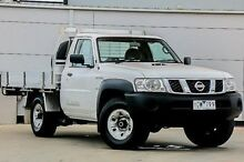 2011 Nissan Patrol GU 6 MY10 DX White 5 Speed Manual Cab Chassis Pakenham Cardinia Area Preview