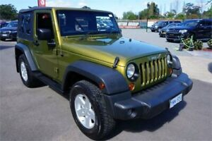 2007 Jeep Wrangler JK Sport Metallic Green 6 Speed Manual Softtop Revesby Bankstown Area Preview