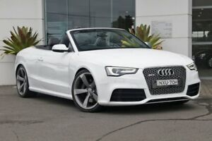 2013 Audi RS5 8T MY14 S Tronic Quattro White 7 Speed Sports Automatic Dual Clutch Cabriolet