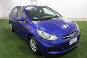 2013 Hyundai Accent RB2 Active Blue 4 Speed Sports Automatic Sedan Moonah Glenorchy Area Preview