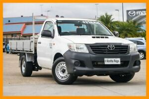 2014 Toyota Hilux KUN16R MY14 Workmate 4x2 White 5 Speed Manual Cab Chassis Hillcrest Logan Area Preview