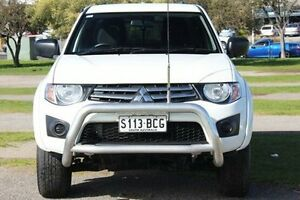 2013 Mitsubishi Triton MN MY13 GLX Club Cab White 5 Speed Manual Utility Christies Beach Morphett Vale Area Preview