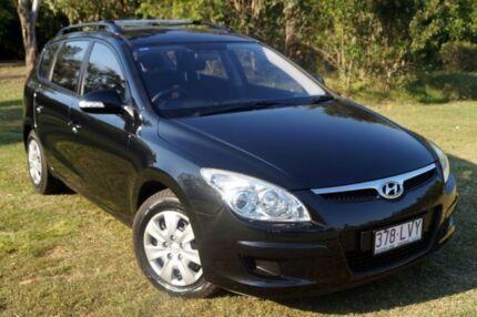 2009 Hyundai i30 FD MY09 SX cw Wagon Black 5 Speed Manual Wagon