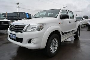 2013 Toyota Hilux KUN26R MY12 SR (4x4) Glacier White 4 Speed Automatic Dual Cab Pick-up Welshpool Canning Area Preview