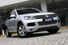2011 Volkswagen Touareg 7P MY12 150TDI Tiptronic 4MOTION Silver 8 Speed Sports Automatic Wagon St James Victoria Park Area Preview