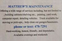 Handyman w/truck...many services offered