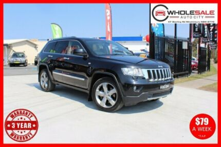 2012 Jeep Grand Cherokee WK Limited Wagon 5dr Spts Auto 6sp 4x4 5.7i [MY12] Black Sports Automatic