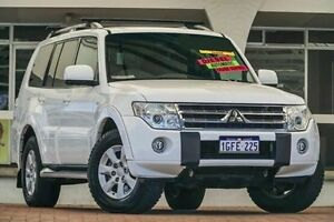 2010 Mitsubishi Pajero NT MY10 GLS White 5 Speed Sports Automatic Wagon Willagee Melville Area Preview