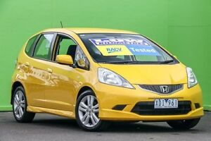 2009 Honda Jazz GE MY10 VTi-S Yellow 5 Speed Sports Automatic Hatchback Ringwood East Maroondah Area Preview