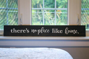 "*NEW* Rustic Wood Sign ""Theres no place like home"""