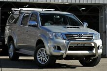 2013 Toyota Hilux GGN25R MY12 SR5 (4x4) Silver 5 Speed Automatic Dual Cab Pick-up Mosman Mosman Area Preview