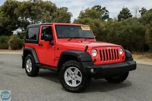2013 Jeep Wrangler JK MY13 Sport (4x4) Red 6 Speed Manual Softtop Hillman Rockingham Area Preview