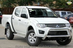 2010 Mitsubishi Triton MN MY10 GL-R Double Cab White 4 Speed Automatic Utility Wilson Canning Area Preview