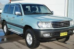 2001 Toyota Landcruiser FZJ105R GXL Blue 4 Speed Automatic Wagon Cardiff Lake Macquarie Area Preview