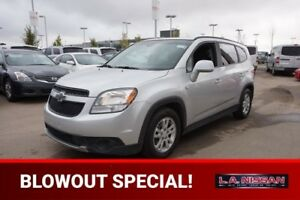 2012 Chevrolet Orlando LT 7 PASSENGER Accident Free,  3rd Row,