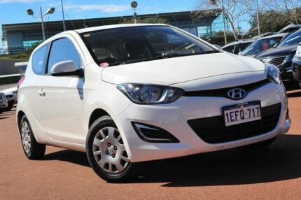 2013 Hyundai i20 PB MY14 Active White 4 Speed Automatic Hatchback Glendalough Stirling Area Preview