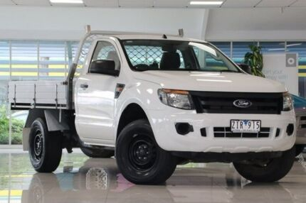 2012 Ford Ranger PX XL White 6 Speed Manual Cab Chassis Dandenong Greater Dandenong Preview