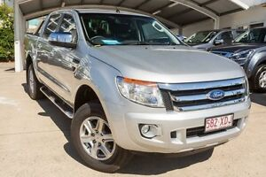 2013 Ford Ranger PX XLT Double Cab Silver 6 Speed Manual Utility Mount Gravatt Brisbane South East Preview