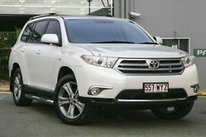 2011 Toyota Kluger GSU40R MY11 KX-S 2WD White 5 Speed Sports Automatic Wagon Hillcrest Logan Area Preview