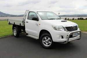 2012 Toyota Hilux KUN26R MY12 SR White 4 Speed Automatic Cab Chassis Invermay Launceston Area Preview