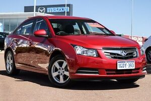 2011 Holden Cruze JH Series II MY12 CD Red 6 Speed Sports Automatic Sedan East Rockingham Rockingham Area Preview