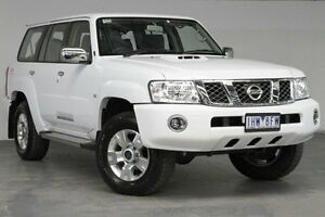 2016 Nissan Patrol Y61 GU 10 ST White 4 Speed Automatic Wagon Southbank Melbourne City Preview