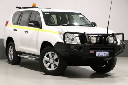 2013 Toyota Landcruiser Prado KDJ150R 11 Upgrade GX (4x4) White 5 Speed Sequential Auto Wagon Bentley Canning Area Preview