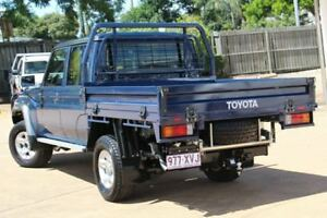 2016 Toyota Landcruiser VDJ79R GXL Double Cab Blue 5 Speed Manual Cab Chassis