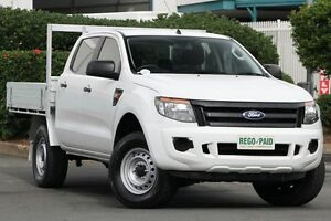 2012 Ford Ranger PX XL Double Cab 4x2 Hi-Rider Cool White 6 Speed Sports Automatic Cab Chassis Acacia Ridge Brisbane South West Preview