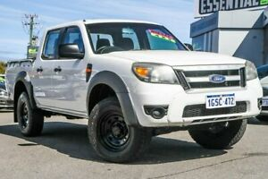 2009 Ford Ranger PK XL Crew Cab 4x2 Hi-Rider White 5 Speed Automatic Utility