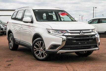 2017 Mitsubishi Outlander ZL MY18.5 ES AWD White 6 Speed Constant Variable Wagon Cannington Canning Area Preview