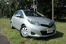 2013 Toyota Yaris NCP130R YR Silver Pearl 4 Speed Automatic Hatchback The Gardens Darwin City Preview