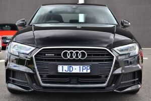 2017 Audi A3 8V MY17 S Line S tronic quattro Black 7 Speed Sports Automatic Dual Clutch Sedan