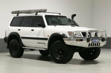 1998 Nissan Patrol GU ST (4x4) White 5 Speed Manual 4x4 Wagon Bentley Canning Area Preview