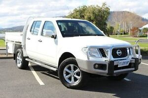 2012 Nissan Navara D40 S6 MY12 ST White 5 Speed Sports Automatic Utility Invermay Launceston Area Preview