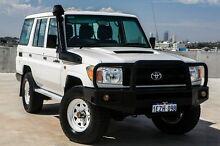 2007 Toyota Landcruiser VDJ76R Workmate White 5 Speed Manual Wagon Osborne Park Stirling Area Preview