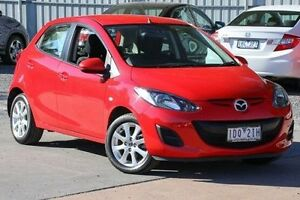 2014 Mazda 2 DE10Y2 MY14 Neo Sport Red 5 Speed Manual Hatchback Ferntree Gully Knox Area Preview