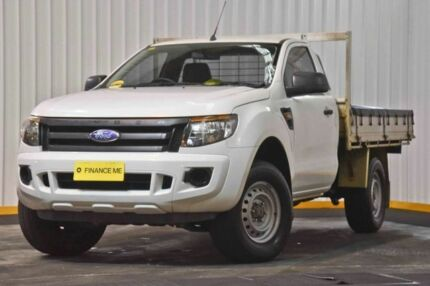2012 Ford Ranger PX XL 4x2 Hi-Rider White 6 Speed Sports Automatic Cab Chassis Hendra Brisbane North East Preview