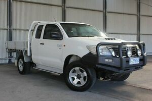 2011 Toyota Hilux KUN26R MY12 SR Xtra Cab White 5 Speed Manual Utility Invermay Launceston Area Preview