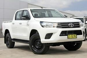 2016 Toyota Hilux GUN136R SR Double Cab Hi-Rider Glacier White 6 Speed Sports Automatic Utility Blacktown Blacktown Area Preview