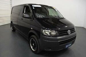 2013 Volkswagen Transporter T5 MY13 TDI 340 SWB Low Black 7 Speed Automatic Van Moorabbin Kingston Area Preview